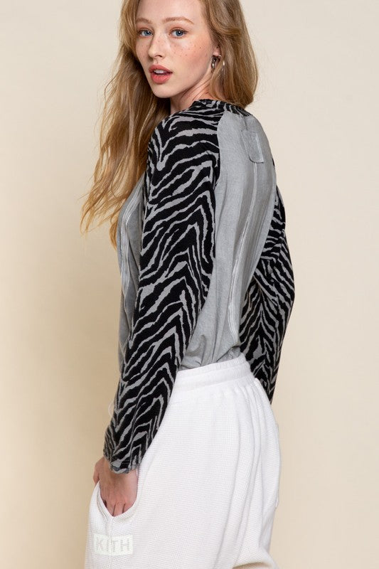 WHEREVER YOU ARE Zebra Top