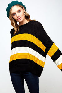 DO IT SO WELL Striped Sweater