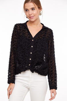 ONE LOVE Black Blouse