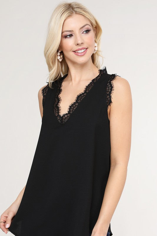LIKE IT IS Lace Cami