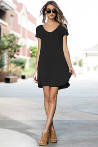 THUNDERSTRUCK Black T-Shirt Dress