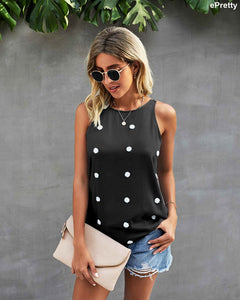OVERNIGHT SENSATION Polka-dotted top