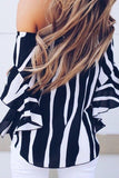 UP ALL NIGHT Stripe Top