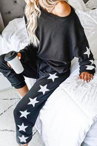 GOOD AS YOU Black Jogger Set