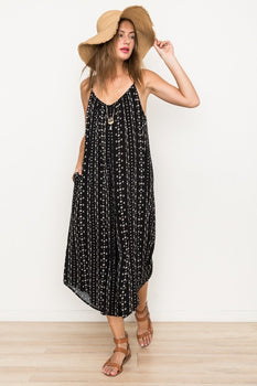 WE FOUND LOVE Black Printed Jumpsuit