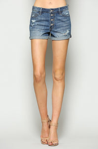 FOREVER LOVE Boyrfriend Button Fly Shorts