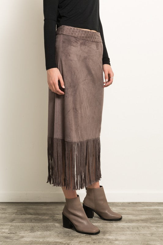 HOLDING ON TO YOU Midi Skirt