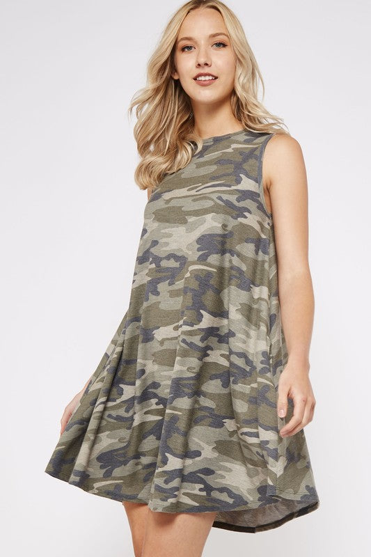 MY TYPE Camo Swing Dress