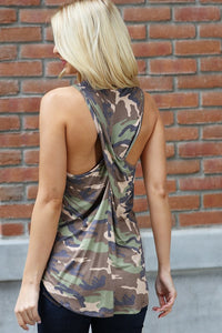 NO OTHER BABY Camo Twist Tank