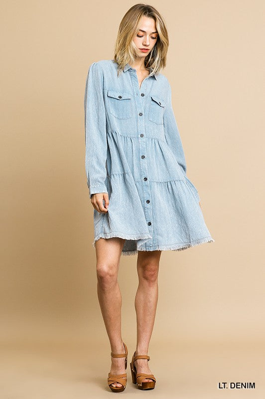 STAY ALL NIGHT Denim Dress