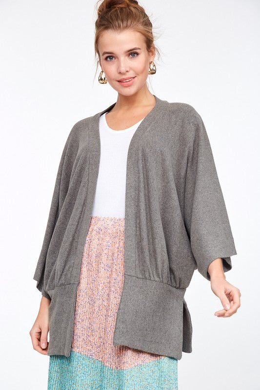 GOOD THING Gray Knit Cardigan