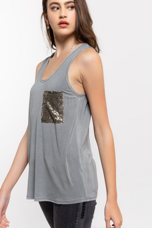 TAKE ME HIGHER Gray Tank