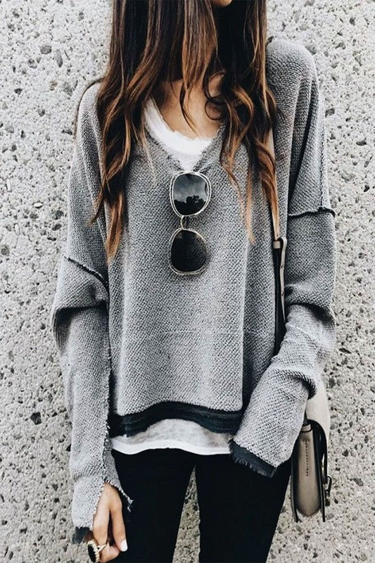 LOVE REMAINS V-Neck sweater