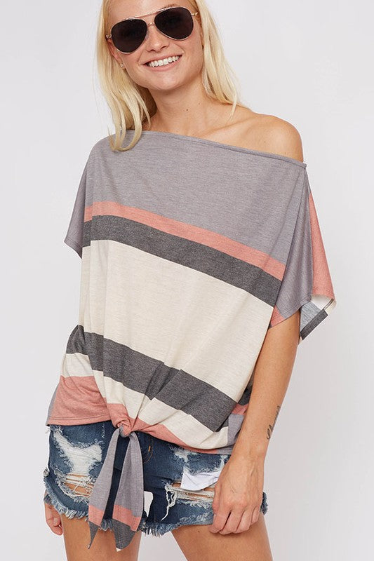 BETTER NOW Striped Top