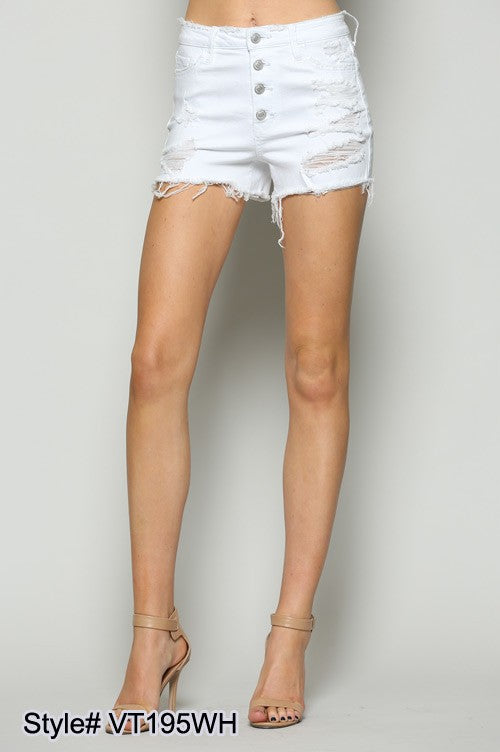 GIRL CRUSH Button Fly Shorts
