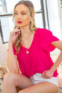 INTO THE MYSTIC Hot Pink Top