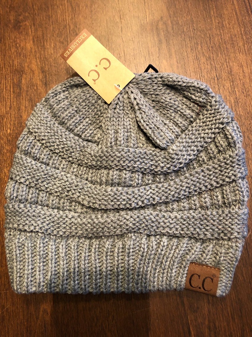Light Gray CC Beanie