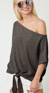 JUST ANOTHER DAY Waffle Knit Top