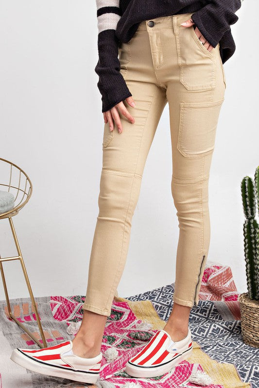 GET YOUR SHINE ON Skinny Cargo Pants