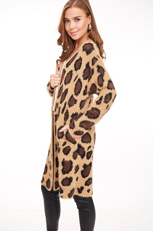 ORIGINAL ME Leopard Long Cardigan