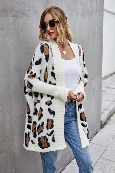 GET YOUR LEOPARD ON Cardigan