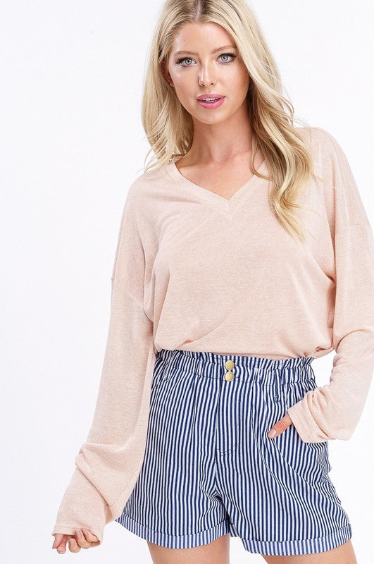 EVERYDAY Long-sleeve Melon Top