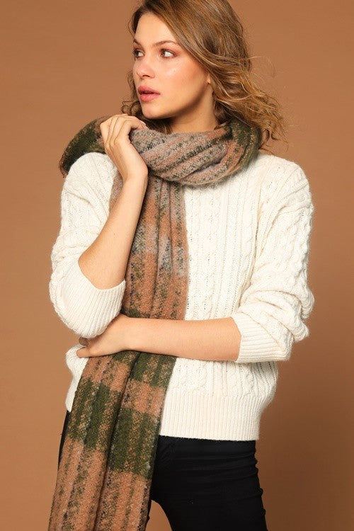 PIECE BY PIECE Plaid Scarf