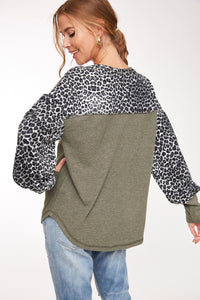 HIGHER LOVE Leopard Top