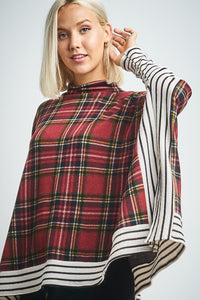 WANTED Plaid Poncho