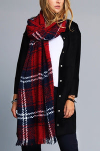 JUST ANOTHER DAY Plaid Scarf