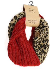 LEOPARD & RED CC Infinity Scarf