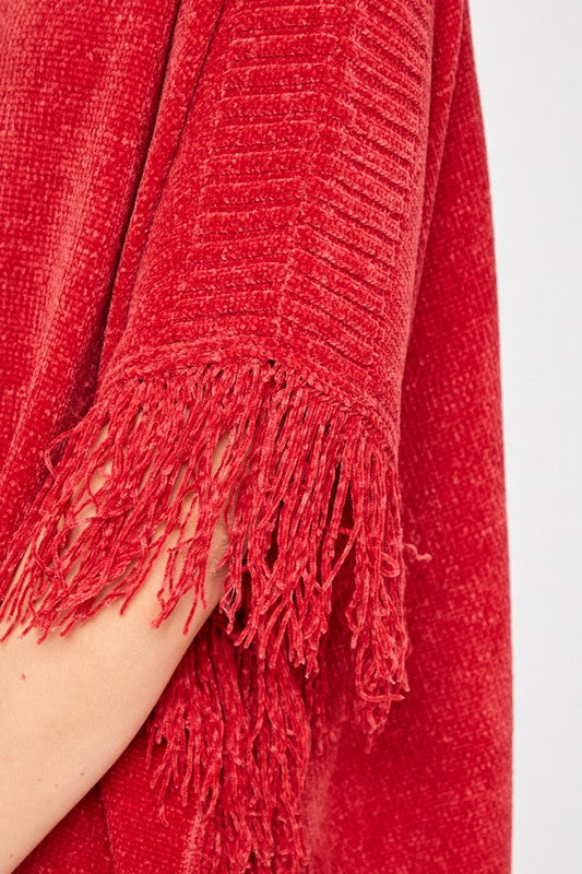 Red Sweater with Fringe