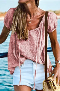 GOTTA BE YOU PINK Floral Printed Blouse