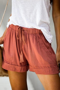 THESE MOMENTS Rust Colored Shorts
