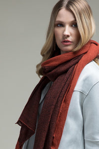 COLD HEARTED Burgandy+Rust Scarf