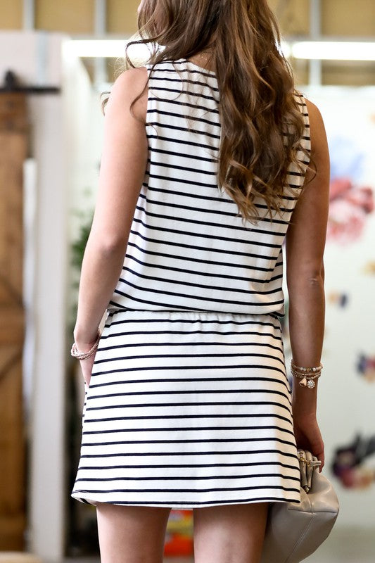 MY HEART GOES ON Striped Dress
