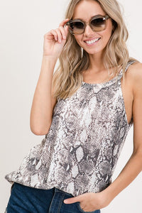 LIVE IT Snake-print Top