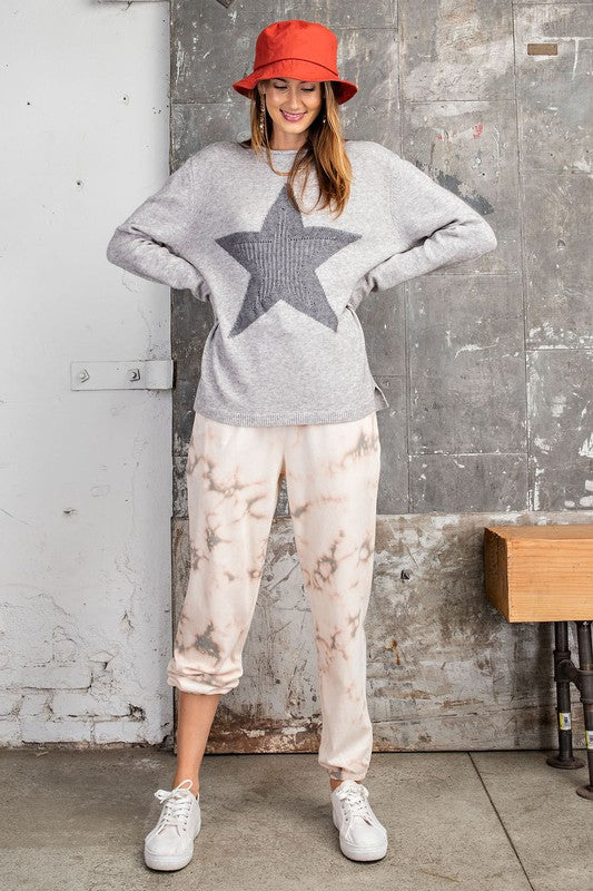 STAR OF THE SHOW Heathered Gray Sweater