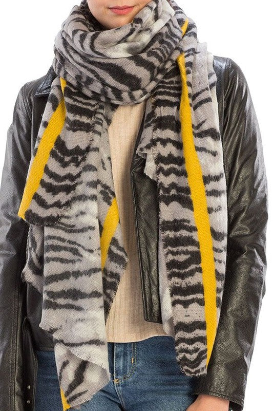 LONG LOST FRIEND Zebra Scarf