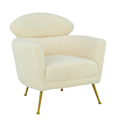 Faux Shearling Accent Chair