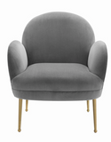Petal Grey Accent Chair
