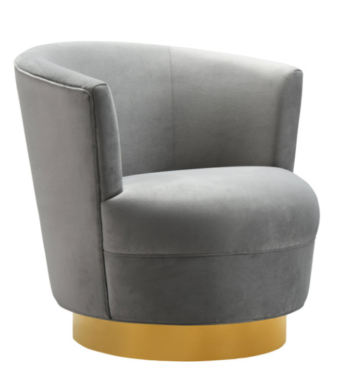 Swivel Grey Chair