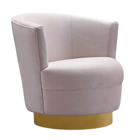 Swivel Blush Chair
