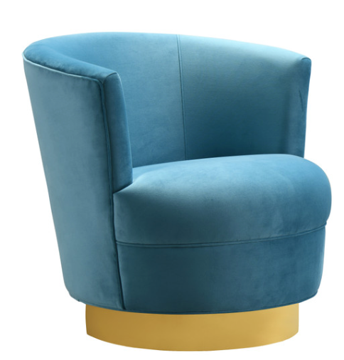 Swivel Lake Blue Chair