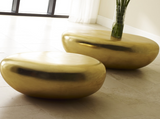 River Stone Coffee Table Gold Leaf