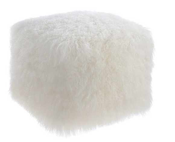 Tibetan Sheep Wool Pouf Ottoman