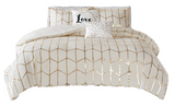 Gold Love Comforter Set