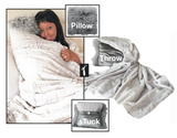 Gray Velvet Pillow Throw & Tuck Throw