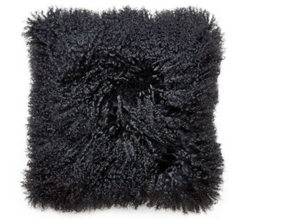 Black Pillow Throw & Tuck Oversized Throw