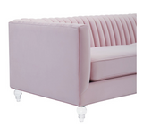 Coco Velvet Channel Sofa Available in 3 Colors
